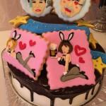 オーダーメイドアイシングクッキー付きケーキ