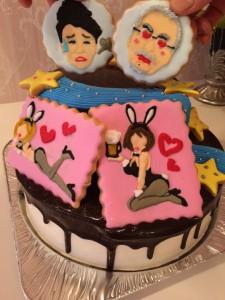 名古屋のオーダーメイドアイシングクッキー付きケーキ
