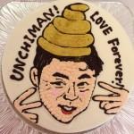 似顔絵イラスト入りケーキ