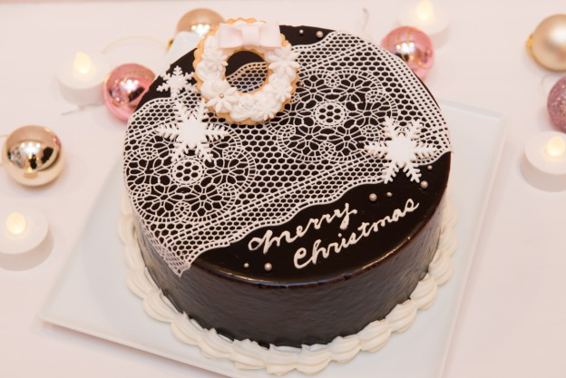チョコレートケーキ(ホワイトクリスマス)