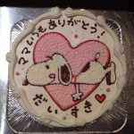 母の日キャラクターケーキ