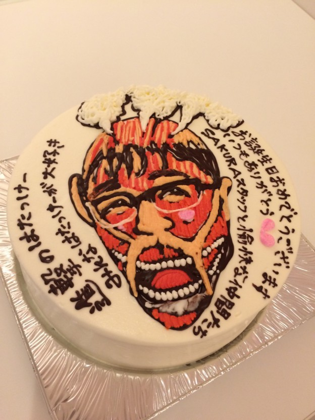 キャラクター似顔絵イラスト入りケーキ