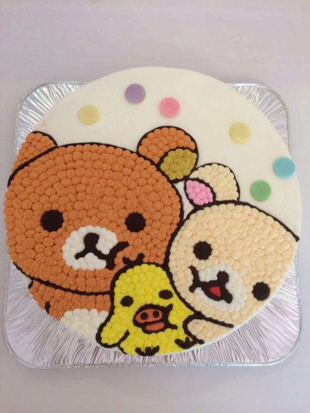 キャラクターイラスト入りケーキ