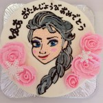 キャラクターイラスト入りバースデーケーキ
