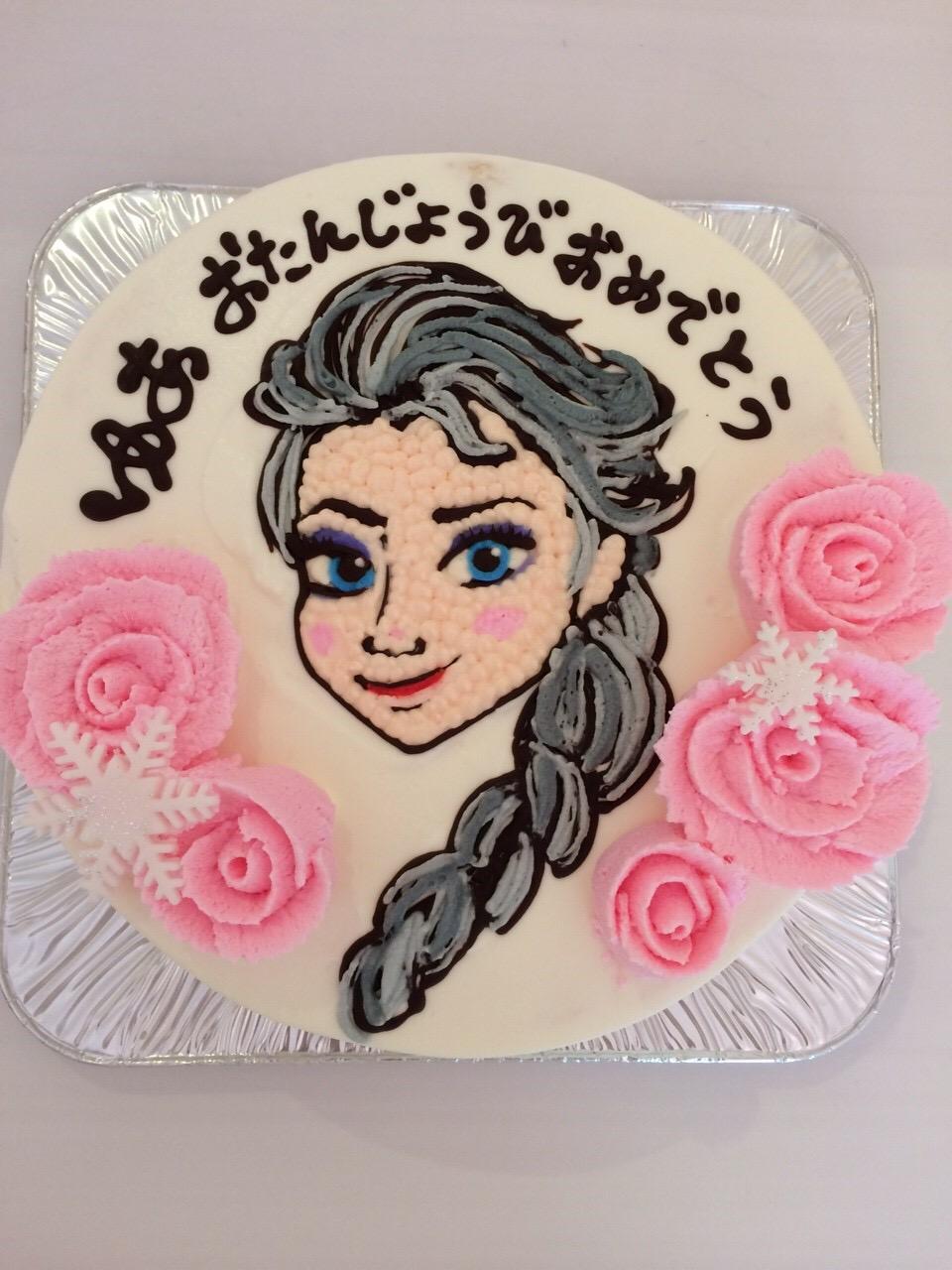 名古屋のキャラクターイラスト入りバースデーケーキ