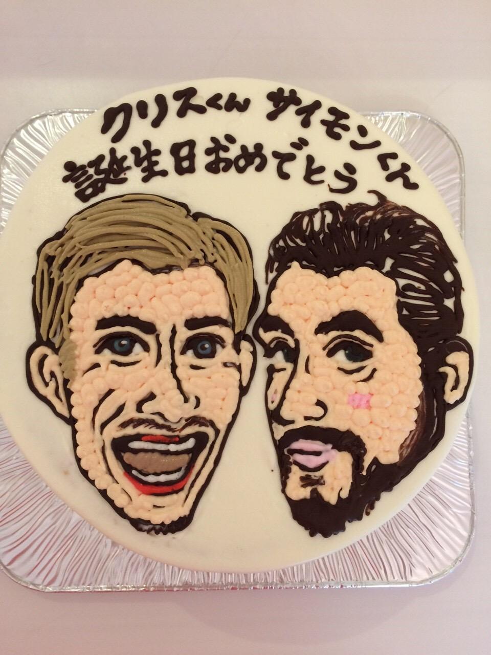 名古屋の似顔絵イラスト入りバースデーケーキ