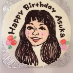 お写真から似顔絵イラスト入りバースデーケーキをお作りいたします。